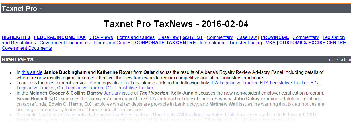 Keep updated on the latest tax news