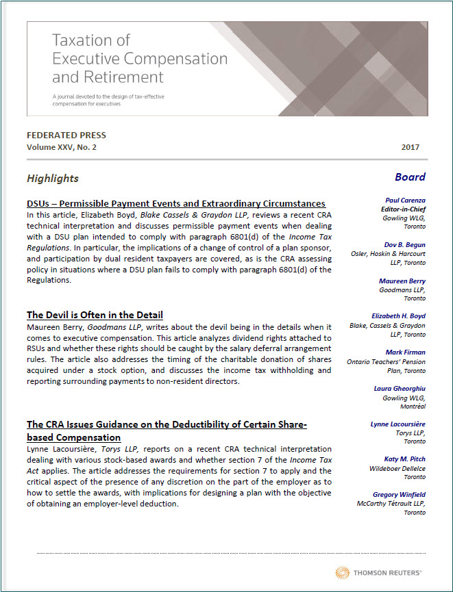 Sample: International Tax Planning Federated Press Journal
