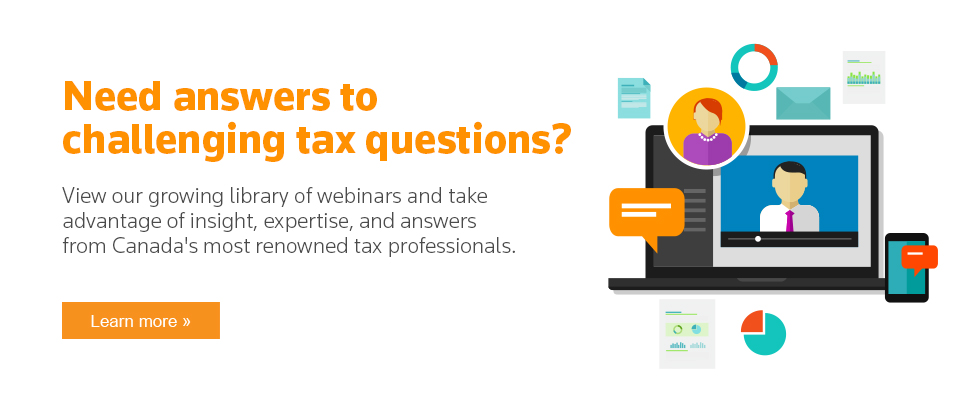 View our library of webinars to view our expert authors as they discuss the latest tax topics.