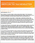 Ameri-Can Tax Talk Newsletter
