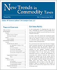 New Trends in Commodity Taxes