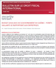 Bulletin sur le droit fiscal international
