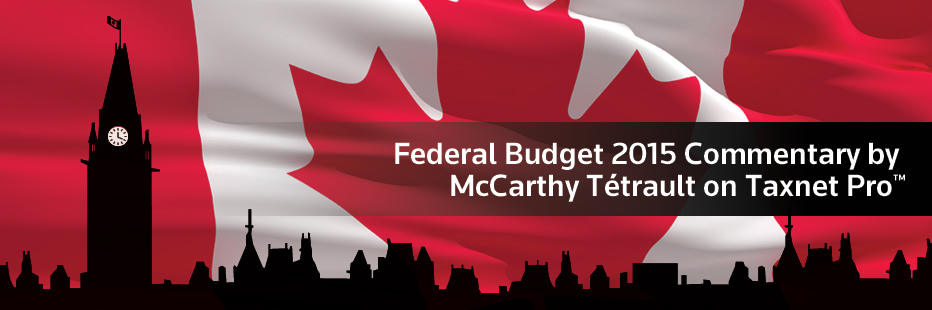 Register for the 2015 Federal Budget webinar.