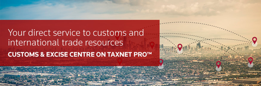 Customs & Excise Centre on Taxnet Pro
